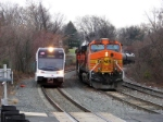 NJT 3506 and BNSF 4040