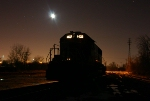 Illinois Central #6123 sits under a lucky moon