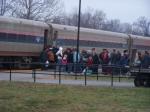 Passengers getting on