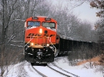 BNSF 6186 WSPX Weston Coal Loads C703