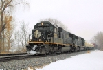 Rare consist in these parts, this train in particular: IC 1035-1032 takes T407 to Wausau, WI.  1-13-08