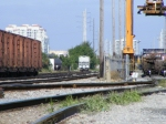 Looking North from the South end of FEC Yard, past the intermodal terminal