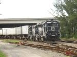 FEC train 218 waits to depart the yard