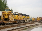 FEC 102 and 713 lead train 202 through the yard