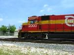 FEC 2000/Train 906 working the pig ramp