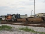 FEC Train 240 sitting on the main, in the yard