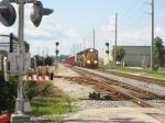 FEC NB Rock Train 240 approaching SW 17 St. with all three motors online