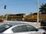 FEC Train 202 crossing Griffin Rd., MP 345.38