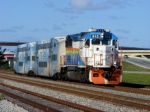 TRI Rail P669 flies by at over 70mph