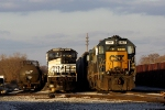 CSX 8407 SD40-2 and NS 9161 C40-9W