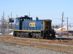 CSX 1105 uncoupled from the 2 SD40-2s heads back to Yard Work