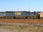 CSX 8529 switches CSX Augusta Yard