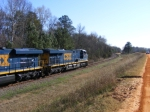 CSX 762 and Power lead a coal train past Augusta Canal