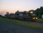 A late 68Q passes through Phillipsburg just after dark
