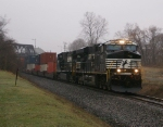 An NS stack train heads East
