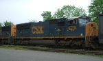 CSX 4779 trails on Q410