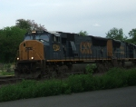 CSX 4795 leads Q410 through CP Belmont