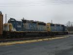 CSX 2688 & 6318 lead D777 west at Landenburg JCT