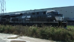 NS 7672 in fresh paint leads H40 at the Port of Wilmington