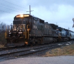 CA-11 with NS 8722 & 8325 wait in the rain for a new crew