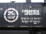 Close up of Operation Lifesaver logo on NS 9252
