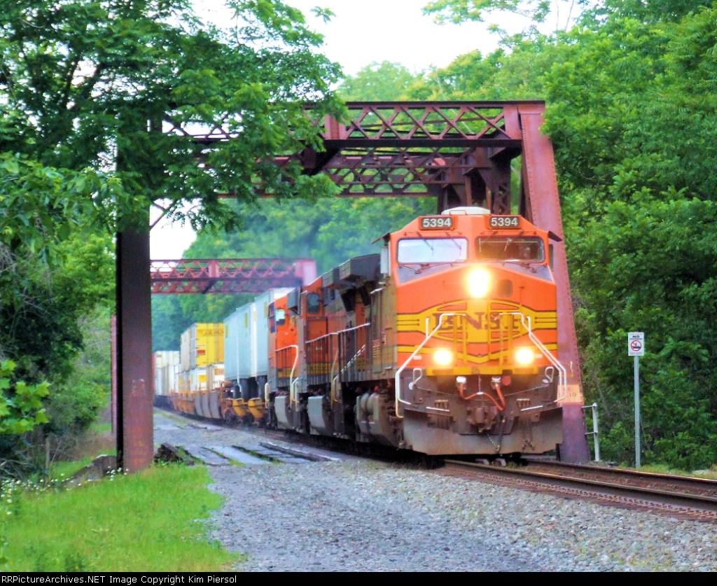 BNSF 5394 NS Train 214