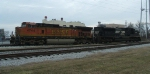 500 power consists of BNSF 4744 & NS 2722