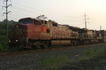 BNSF 669 leads 23M through wyomissing jct