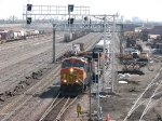 080403008 Westbound BNSF intermodal passes through Northtown CTC 35th