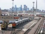 080413002 Northbound BNSF passenger special prepares to depart Northtown Yard