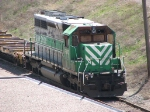 "080505004 Partially stripped (or damaged?) FURX 3020 parked on ""No Hump"" track at BNSF Northtown Yard"