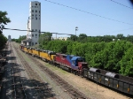 080614040 Westbound UP freight makes backup move into ex-C&NW East Mpls Yard