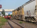 080814021 Westbound UP empty hopper train on TC&W