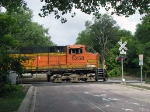 080914007 Eastbound BNSF crossing Nicollet Island on the Wayzata Sub.
