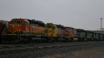 Four Different BNSF Paint Schemes