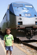 AMTK 180 & my railfan buddy!!!!