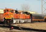 Brand New BNSF 9150 and 9149 SD70ACe's With a KCS Business Car at Mid-America Car
