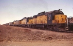 CNW 856 CNW 861 lead eb bentonite train at Exit 37 I90 E of Sturgis SD