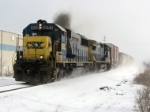CSX 8550 Hiccups as Q335 heads west