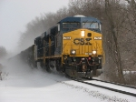 CSX 753 & 760 Lead N924 west as the sun begins to break through the clouds