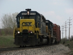 CSX 8335 and 8027 are back again as they lead Q335 west
