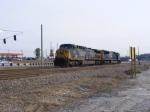 CSX 244 & CSX 4726 sit on the siding