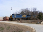 CSX 583 passes the Augusta Canal Park