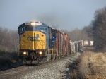 CSX 8772 & 4589 roll west through the slight sags with Q335