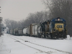 CSX 8425 & 8118 lead Q326-27 through Lamar and into the yard with 26 cars