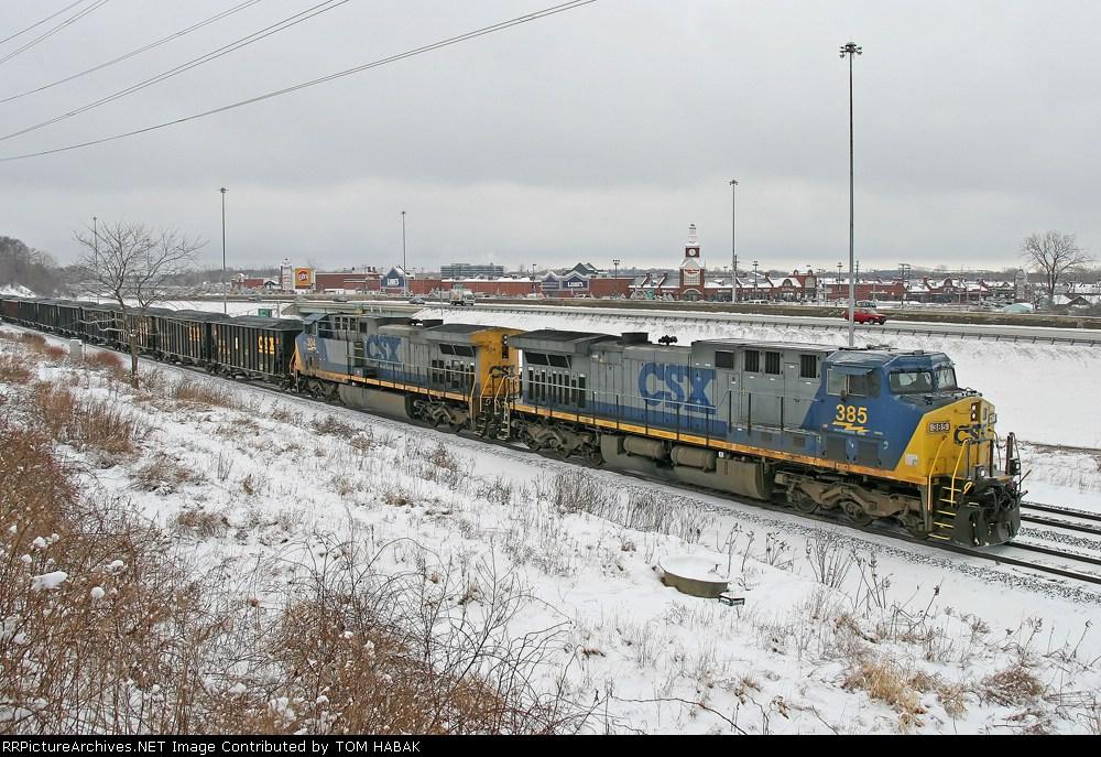 CSX 385 on V784-18