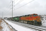 BNSF 4395 on CSX Q380-21