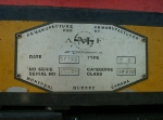 CN 6024  BUILDER'S PLATE, AUGUST 15, 2001