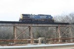 CSX 332 over the ACL Enroee River bridge