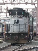 NJT 4100 Running Long Hood Forward Head On View